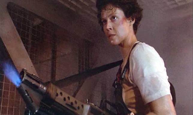 Ripley with her gun