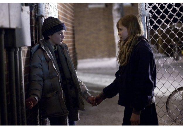 Kodi Smit-McPhee and Chloe Moretz in Overture Films' 'Let Me In'
