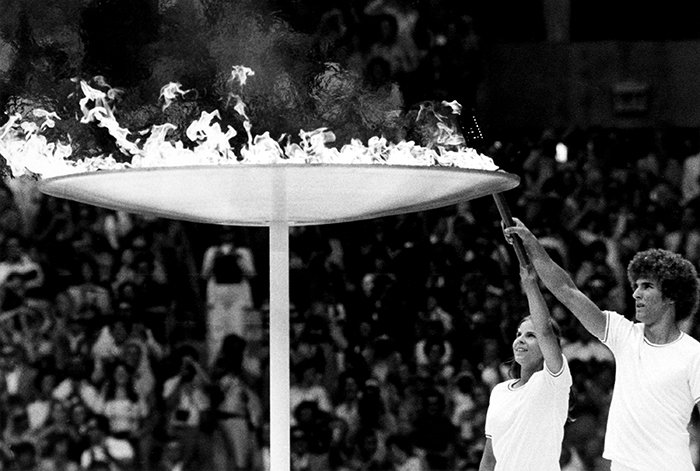 History of the Montreal 1976 Summer Olympic Games Opening Ceremony, carrying the Olympic Torch!